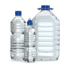 Bottles of water various sizes