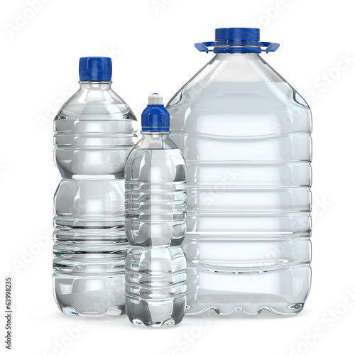 Bottles of water various sizes