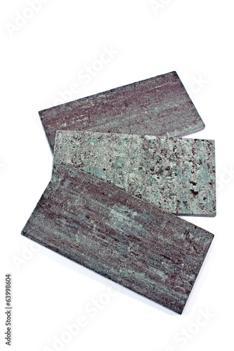 Granite texture samples isolated on white
