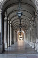Building Arcade in Lisbon