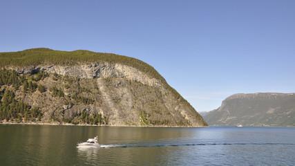 Laerdal, Fjord, Fjordfahrt, Laerdalsfjord, Sommer,  Norwegen