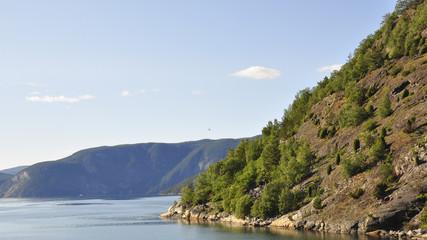 Laerdal, Laerdalsfjord, Fjord, Fähre, Sommer, Norwegen