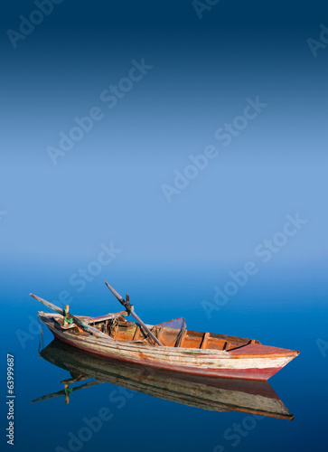 Fishing boat in the sea