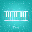 Piano - vector illustration