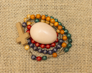 egg and rosary