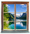 canvas print picture - Fensterblick