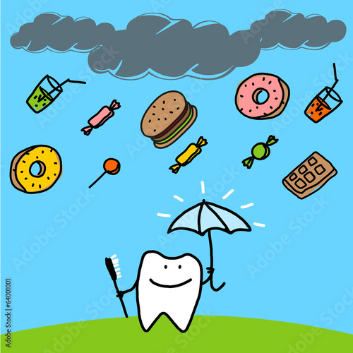 Strong tooth with an umbrella