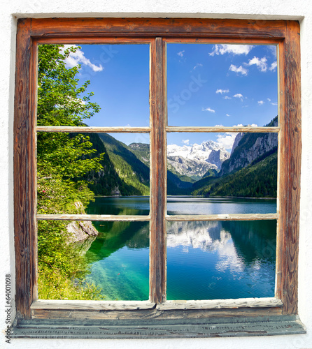 canvas print picture Fensterblick