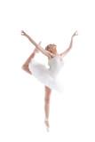 Image of blonde ballerina dancing gracefully