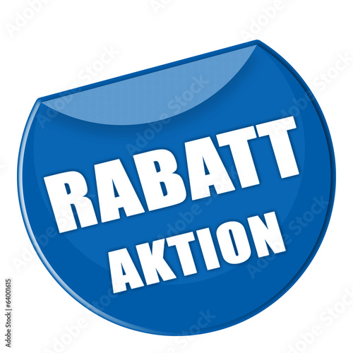 canvas print picture Button - Rabatt Aktion - blau - g876