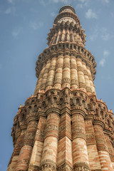 Qutub minar in vertical position