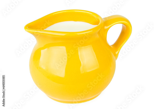Yellow milk jug