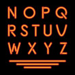 Neon Tube Letters. Glowing Font. Vector