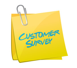 customer survey post illustration design