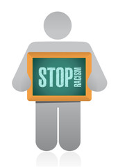 stop racism sign illustration design