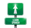 learn spanish sign illustration design