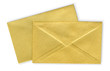 Close-up of two envelopes.