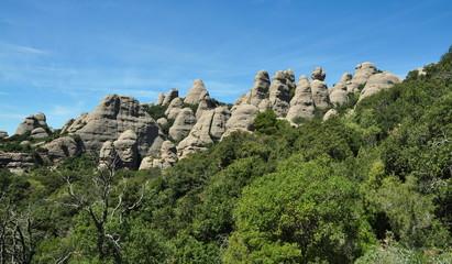 Panorámica montaña Montserrat
