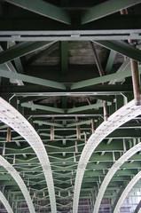 Brücke von unten in Wien 3