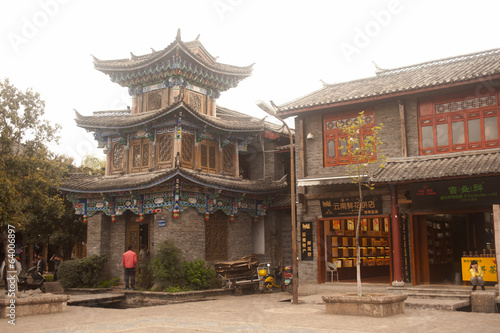 Historical Shuhe ancient town in Lijiang,Yunnan in China.