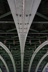 Brücke von unten in Wien 2
