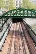 canvas print picture - Rundbogenbrücke in Wien 6