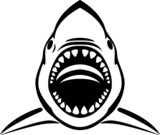 Angry shark tattoo - 64008825