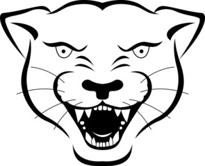 Wild panther head icon