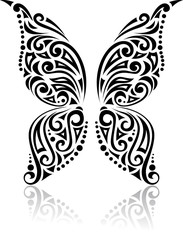 Fantasy butterfly tattoo