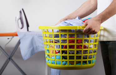 Basket with clean clothes