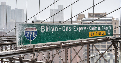 Brooklyn Queens Expressway Exit Sign