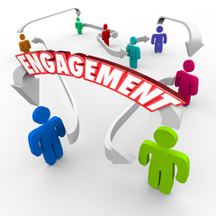 Customer Audience Engagement People Connected Arrows