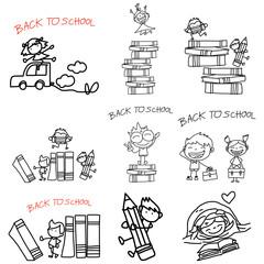 cartoon back to school