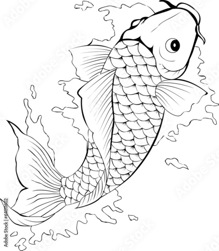 Black And White Koi Fish Tattoo Buy Photos Ap Images Detailview