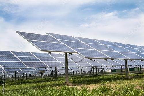 Solar cell panels farm - 64012442
