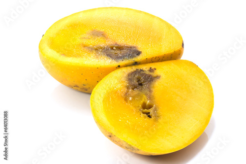 Gangrene Mangos in isolated white background