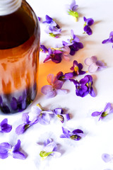 Violet syrup for baking and treatment