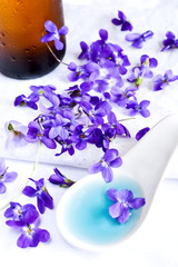 Sweet violets syrup for baking and treatment