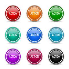 action icon vector set