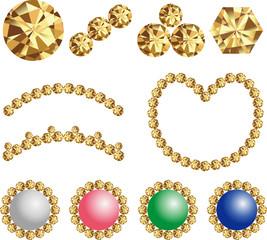 宝石 素材 パーツ