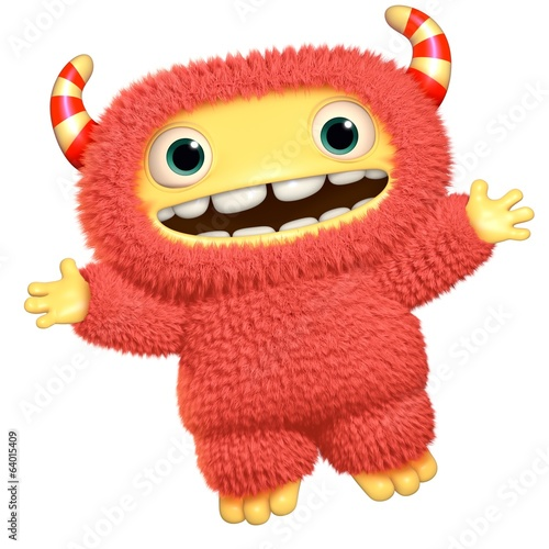 Keuken foto achterwand Sweet Monsters 3d cartoon monster