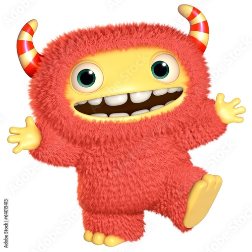 Deurstickers Sweet Monsters 3d cartoon monster