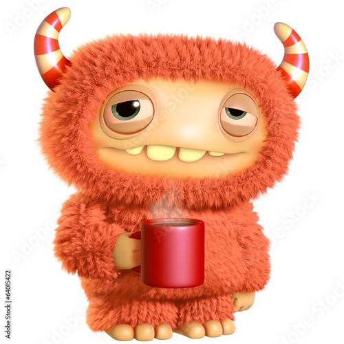 Poster Sweet Monsters 3d cartoon monster