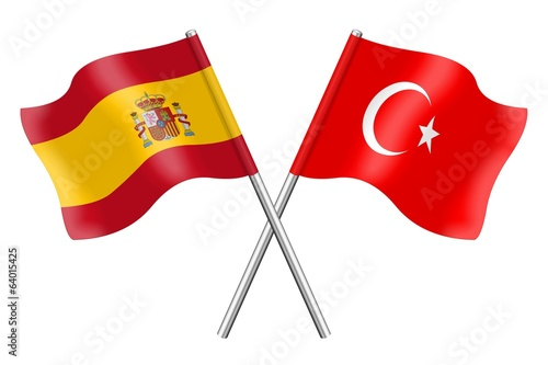 Flags: Spain and Turkey