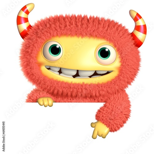 Fotobehang Sweet Monsters 3d cartoon monster