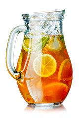 Ice tea in the pitcher