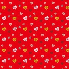 Heart pattern_Red