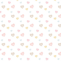 Heart pattern_ white