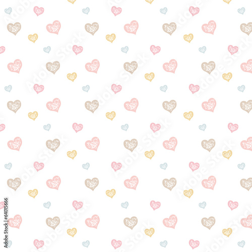 Heart pattern_ white