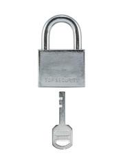 Metal lock and key.